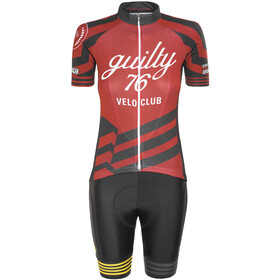 guilty 76 racing Velo Club Pro Race - Ensemble Femme - rouge